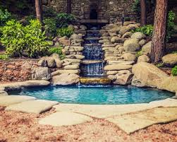 Backyard Pond Ideas With Waterfall Backyard Pond Designs