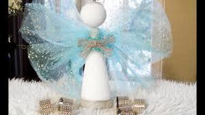 diy angel christmas tree topper centerpiece and elegant napkin