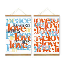 modern letters posters happiness decoration wall pictures