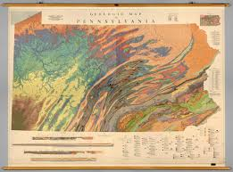Pennsylvania Maps by Pennsylvania Geology David Rumsey Historical Map Collection