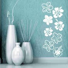 wall decals wall stickers murals wall art style apply hibiscus flowers wall decal