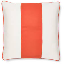 sunbrella outdoor wide stripe pillow cover melon williams sonoma