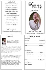 memorial program ideas single fold funeral memorial program template for or