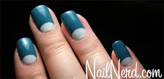 nail nerd nail art for nerds how to do half moon nails