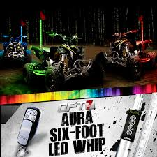 jeep sand rail aura 6ft multi color all terrain led whip single 64 light
