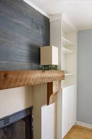 Wood Mantel Shelf Diy by Fireplace Makeover Reclaimed Wood Mantel Reclaimed Wood Mantel