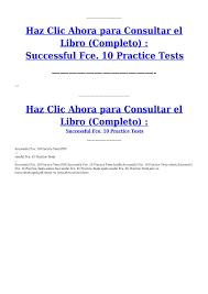 successful fce 10 practice tests pdf documents