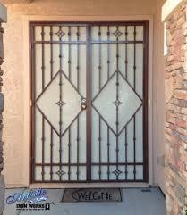 security screens for sliding glass doors papillion wrought iron security screen door for patio doors