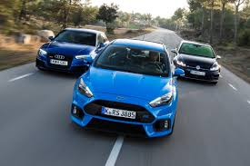 new volkswagen sports car ford focus rs vs volkswagen golf r vs audi rs3 auto express