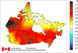 Northern Canada Map by Environment And Climate Change Canada Climate Change Climate