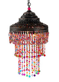 Coloured Chandelier by Moroccan Beaded Hanging Lamp Hmn This Gives Me An Idea Or Two