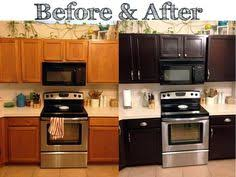 staining kitchen cabinets before and after kitchen remodel with general finishes java gel stain java gel