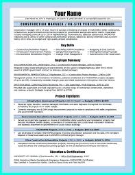 Resume Samples Project Manager by Cover Letter Template Construction Project Manager