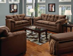 couch and chair set luna chocolate sofa u0026 loveseat casual microfiber living room set