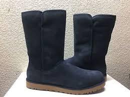 s navy ugg boots ugg slim navy suede wedge boot us 9 5 eu 40 5