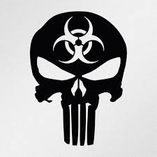 punisher american flag full color die cut decal sticker