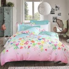 Girls Queen Size Bedding by Coral Pink And Turquoise Western Tribal Print Bohemian Style Cute