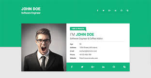 web resume resume website template 15 best html resume templates for awesome
