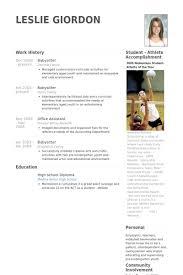 babysitting resume template babysitting resume template vasgroup co