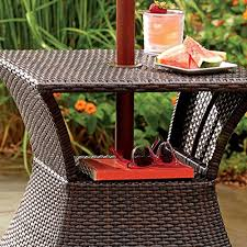 Wicker Accent Table Amazon Com Stratford Umbrella Stand Side Table With Shelf Wicker