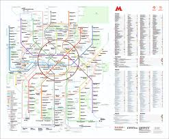 Moscow Metro Map by Moscow Central Circle