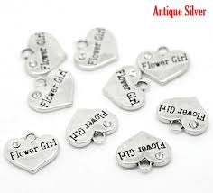 flower girl charms 4 gift for flower girl charms jewelry wedding charms