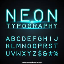 font design series vector neon vectors photos and psd files free download