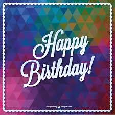 geburtstagskarten design triangle vector birthday card design free vector birthday