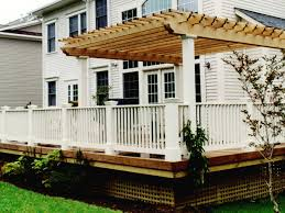 Wood For Pergola by Cedar Pergola And Wood Deck Contemporary Deck Dc Metro By