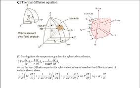 q2 thermal diffusion equation r sin 0 do r sin e d