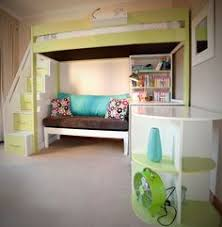 Bunk Bed With Stairs And Desk by Bed And Desk Combo Teens Trendy 28 Whitewash Loft Bed With Desk