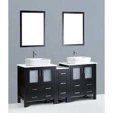 wall mount vessel sink vanity contemporary double sink vanity meetly co