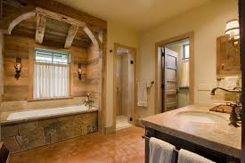 country rustic bathroom ideas hill country retreat