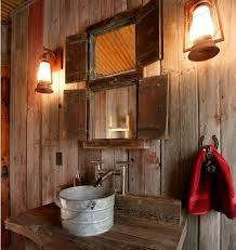 rustic bathroom lighting ideas home design inspiration