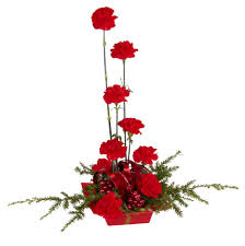 red and pine holiday centerpiece oasis floral ideas