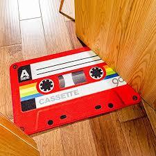 Retro Bathroom Rugs Simplelife4u Funny Retro Red Cassette Doormat Welcome Entrance