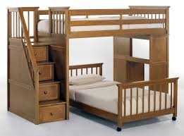 Bedroom  Bunk Beds With Stairs And Desk Medium Painted Wood Table - The brick bunk beds
