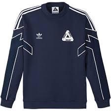 adidas sweater adidas x palace crew neck sweater indigo ao2706