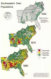 Southeast United States Map by Historic Wildlife Range Maps Se Cooperative Wildlife Disease