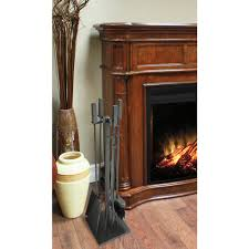 home decorators collection universal 5 piece fireplace tool set in