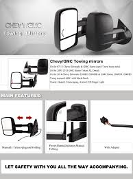 amazon com towing mirrors for 07 13 chevrolet gmc cadillac