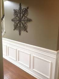 decorating gray wall decor with wainscot and cozy