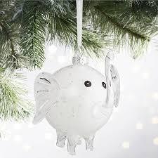 white elephant glass ornament pier 1 imports