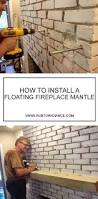 How To Lay Brick Fireplace by How To Install A Floating Mantle Step By Step Instructions