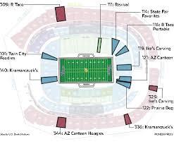 map us bank stadium minnesota vikings stadiums best food nine to try stadium maps us
