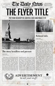1 page letter u0026 ledger newspaper template bundle for adobe