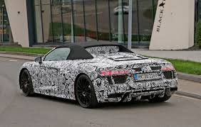 spyder car an open and shut case new audi r8 spyder scooped undisguised by