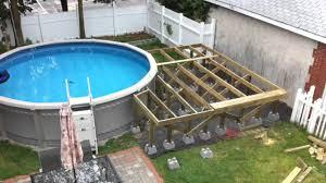 backyard pool and deck youtube