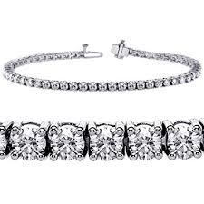 white diamond tennis bracelet images 6 00 ct tw 4 prong round diamond tennis bracelet in jpg