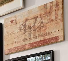 california republic wood flag pottery barn
